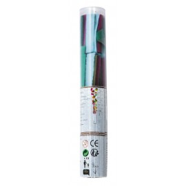 CANON A CONFETTI RECTANGLE MULTICOLORES TUBE TRANSPARENT 25CM