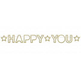 GUIRLANDE HAPPY YOU GLITTER 2M50