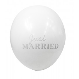 BALLONS JUST MARRIED X12