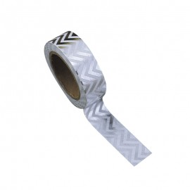 Washi tape chevrons argent