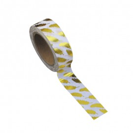 Washi tape plumes or