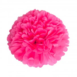 POMPOM SATIN ROSE BUBBLE GUM 40CM