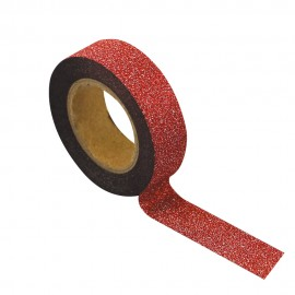 WASHI TAPE GLITTER ROUGE