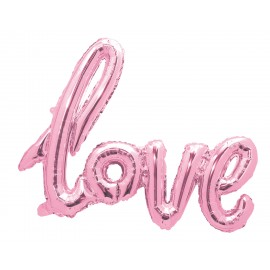 BALLON MYLAR LOVE ROSE PASTEL