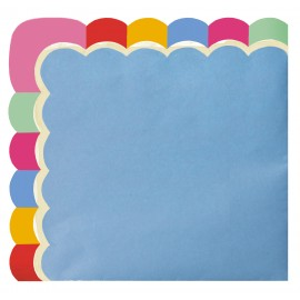 SERVIETTES FESTONNEES 33X33CM MEXICAN PARTY X 16