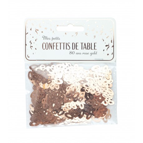 CONFETTIS DE TABLE 80 ROSE GOLD