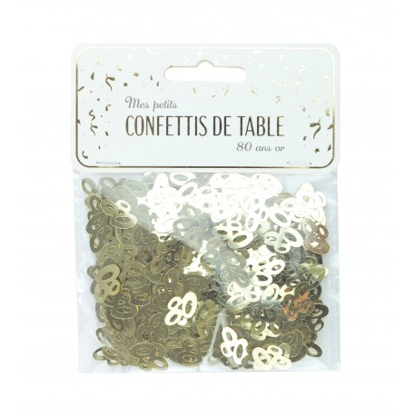 CONFETTIS DE TABLE 80 OR
