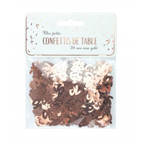 CONFETTIS DE TABLE 70 ROSE GOLD