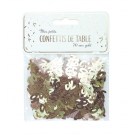 CONFETTIS DE TABLE 70 OR