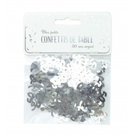 CONFETTIS DE TABLE 50 ARGENT