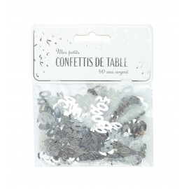 CONFETTIS DE TABLE 40 ARGENT