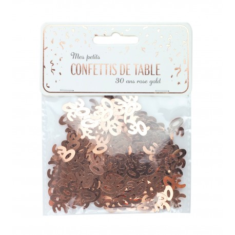 CONFETTIS DE TABLE 30 ROSE GOLD