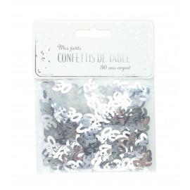 CONFETTIS DE TABLE 30 ARGENT