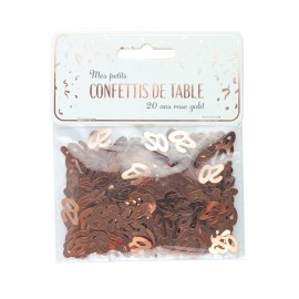 CONFETTIS DE TABLE 20 ROSE GOLD