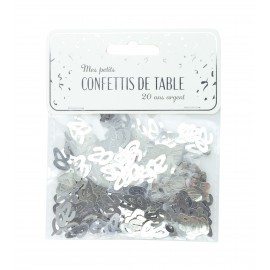 CONFETTIS DE TABLE 20 ARGENT
