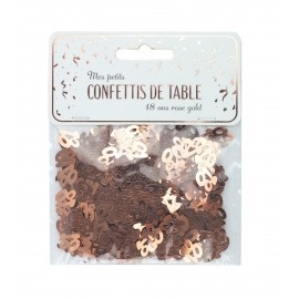 CONFETTIS DE TABLE 18 ROSE GOLD